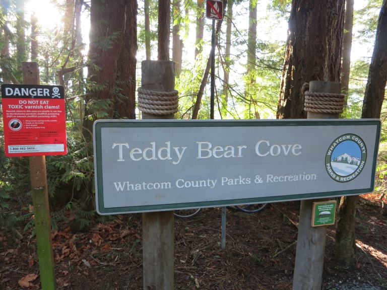 Teddy Bear Cove sign