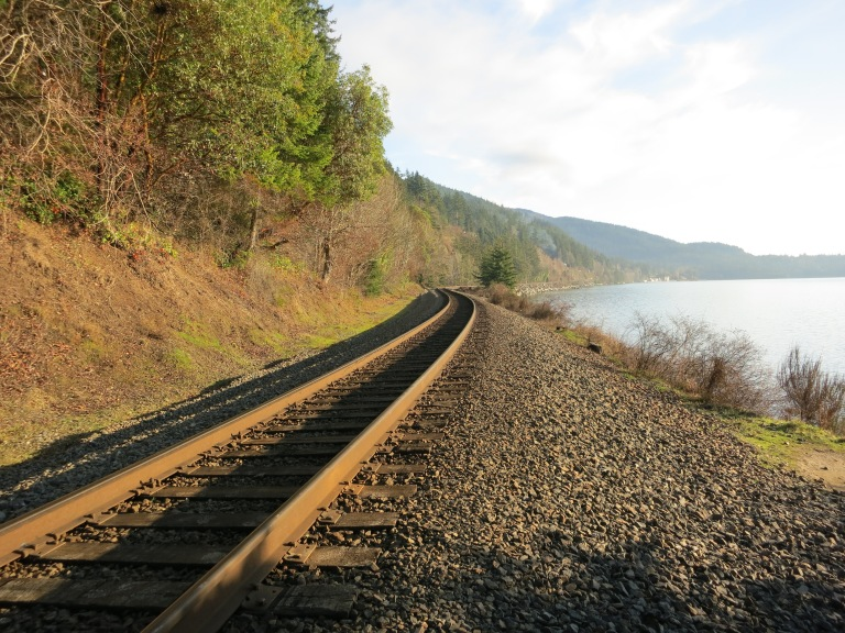 Railroad Tracks along Chuckanut Bay