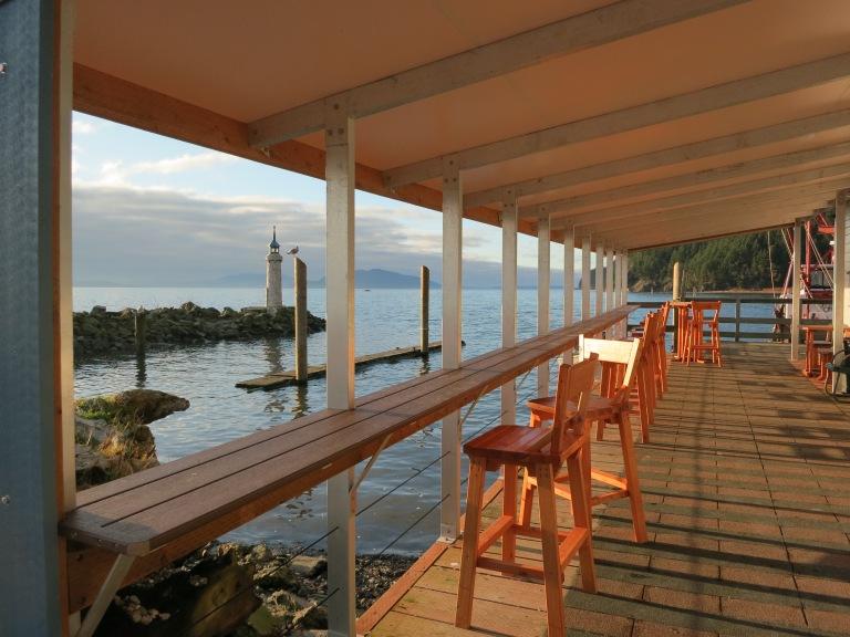The deck at Taylor Shellfish