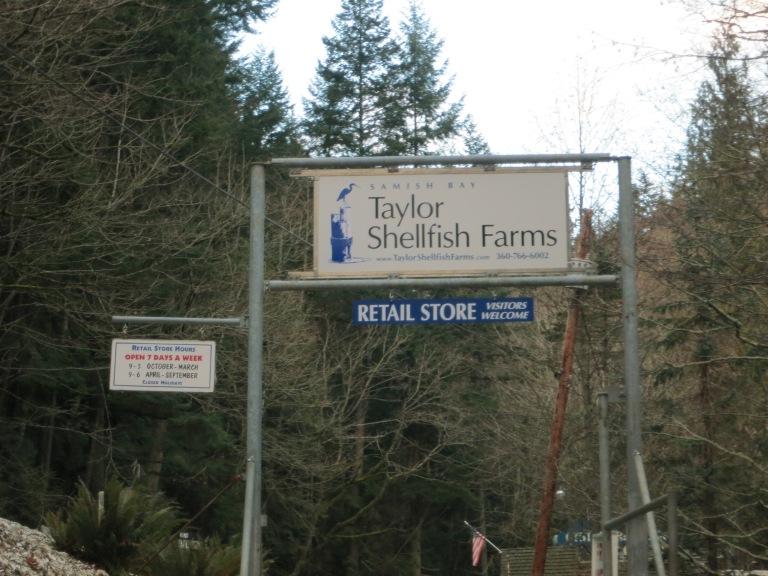 Leaving Taylor Shellfish Farm
