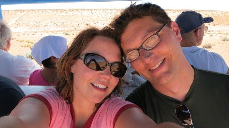 Kari and Oliver at Antelope Canyon