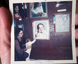 My mom, me and my portrait at the Evergreen State Fair taken by Bob Benson.