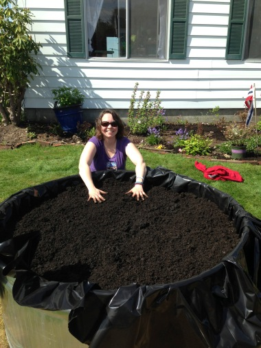 Compost Filled Tank